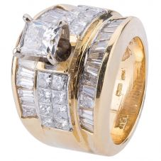 Second Hand 14ct Yellow Gold Multi Diamond Ring 4328239