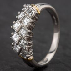 Second Hand Platinum Diamond Half Eternity Ring 4328423