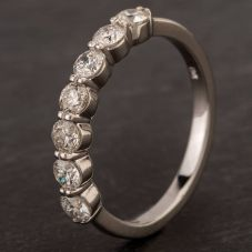Second Hand White Gold Diamond Half Eternity Ring 4328456