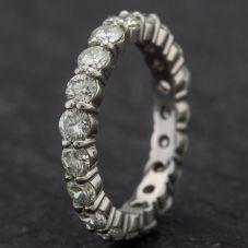 Second Hand Platinum Full Eternity Diamond Ring 4328465