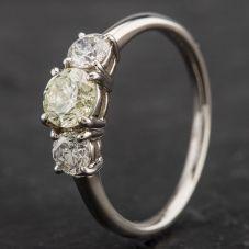 Second Hand Platinum Diamond Three Stone Ring 4328489