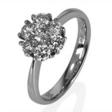 Second Hand 14ct White Gold Diamond Cluster Ring 4329753