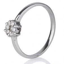 Second Hand 14ct White Gold Seven Stone Diamond Cluster Ring