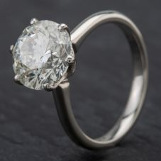 Second Hand Platinum Diamond 4.01ct Single Stone Solitaire Certified Ring
