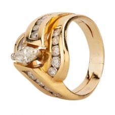 Second Hand Marquise Cut Brilliant Diamond Fancy Ring 4332522