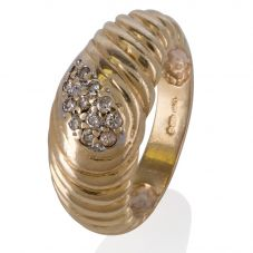 Second Hand 14ct Yellow Gold Diamond Ring 4332657