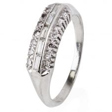 Second Hand 9ct White Gold Stone Set Half Eternity Ring 4332753