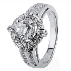 Second Hand 14ct White Gold Diamond Cluster Ring