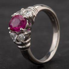 Second Hand Platinum Multi Stone Five Stone Ring 4335110