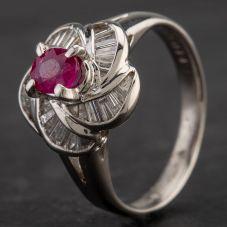 Second Hand Platinum Multi Stone Cluster Ring 4335120