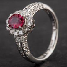 Second Hand Platinum Multi Stone Cluster Ring 4335121