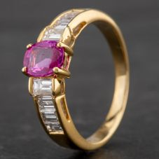Second Hand 18ct Yellow Gold Multi Stone Dress Ring 4336114