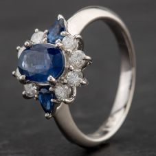 Second Hand Platinum Multi Stone Cluster Ring 4336122