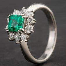 Second Hand Platinum Multi Stone Cluster Ring 4337051