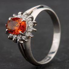 Second Hand Platinum Multi Stone Cluster Ring 4343002