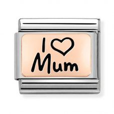 Nomination CLASSIC Composable Limited Edition Rose Gold I Heart Mum Charm 430111/01