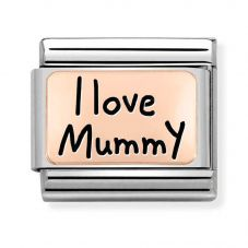 Nomination CLASSIC Composable Limited Edition Rose Gold I Love Mummy Charm 430111/02
