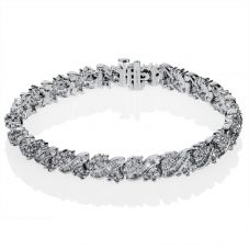 Second Hand 14ct White Gold Multi Diamond Tennis Bracelet