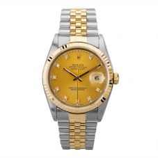 Second Hand Rolex Mens Oyster Perpetual Datejust Watch 16233(13085) - Year 1996