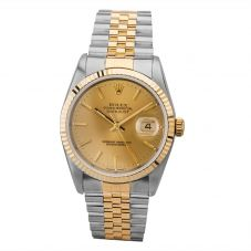 Second Hand Rolex Mens Oyster Perpetual Datejust Watch 16233(13361) - Year 1995