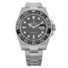 Second Hand Rolex GMT Master Mens Oyster Perpetual Date Black Dial Bracelet Watch 116710LN(14986)