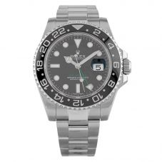 Second Hand Rolex Mens GMT II Oyster Perpetual Date Black Dial Bracelet Watch 116710LN(14998)