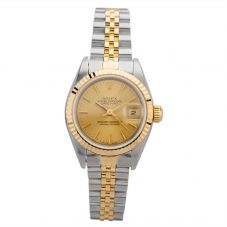Second Hand Rolex Ladies Oyster Perpetual Datejust Watch 69173(7773) - Year 1991