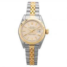 Second Hand Rolex Ladies Oyster Perpetual Datejust Watch 69173(12980) - Year 1994