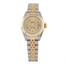 Second Hand Rolex Ladies Bi-Colour Datejust Gold Diamond Dial Automatic Watch 69173(15362)