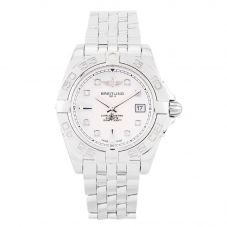 Second Hand Breitling Galactic 32 Diamond Silver Bracelet Watch A71356L (I499634)