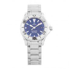 Second Hand Omega Seamaster Blue Bracelet Watch 2285.80.00 (I499638)