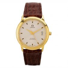 Second Hand Omega De Ville 18ct Gold Brown Leather Strap Watch N516961(455)