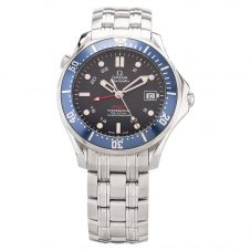 Second Hand OMEGA Mens Seamaster Diver 300m Co-Axial GMT 41mm Automatic Bracelet Watch 2535.80.00