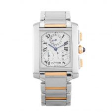 Second Hand Cartier Tank Francaise Two Tone Bracelet Watch 2303