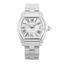 Second Hand Cartier Roadster Silver Bracelet Watch 2510