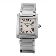 Second Hand Cartier Tank Silver Bracelet Watch 2465