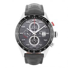 Second Hand TAG Heuer Carrera Calibre 1887 Black Leather Strap Watch CAR2A11.FC6313