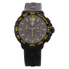 Second Hand TAG Heuer Mens Formula 1 Chronograph Black & Yellow Rubber Strap Watch 4409101