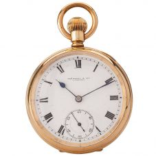 Second Hand Thos Russell and Son Mechanical Open Case Pocket Watch 4410008