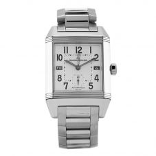 Second Hand Jaeger Le Coultre Reverso Squadra Hometime Silver Rectangular Bracelet Watch N516944(445)