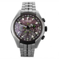 Second Hand Citizen Satellite Wave Green Bracelet Watch W605124(458)