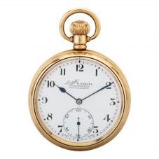 Second Hand Gold Plated Pocket Watch D600647(458)