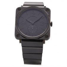 Second Hand Bell & Ross Mens Limited Edition Black Phantom Ceramic Bracelet Watch BRS-BLC-PH/SCE