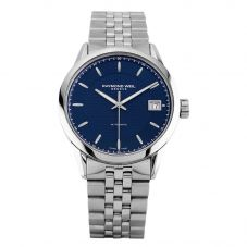 Second Hand Raymond Weil Freelancer Blue Bracelet Watch 2740-ST-50021