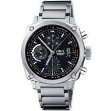 Second Hand Oris BC4 Chronograph Black Bracelet Watch 01 674 7616 4154 07 8 22 58