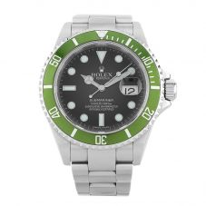 Second Hand Rolex Mens Oyster Perpetual Date Submariner Watch 16610 LV (K471486)