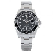 Second Hand Rolex Mens Submariner Oyster Perpetual Date Black Bezel Stainless Steel Watch F0512491(482)