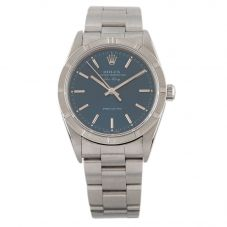 Second Hand Rolex Mens Air King Stainless Steel Blue Dial Watch 136(10/20)