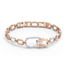 Swarovski Sparkling Dance North Rose Gold Tone Plated Bracelet 5554217 M