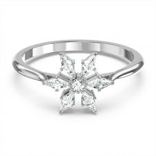Swarovski Magic White Crystal Snowflake Ring